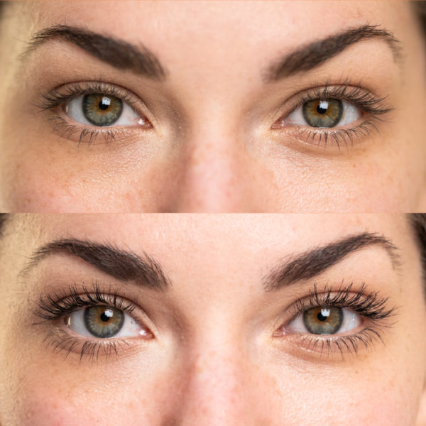 Mascara Before and After: Straight Ahead